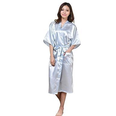 WYSMOL Ropa de Dormir Erótica para Mujer Sexy Batas y Kimonos de Satén Albornoces Largos: Amazon.es: Ropa y accesorios