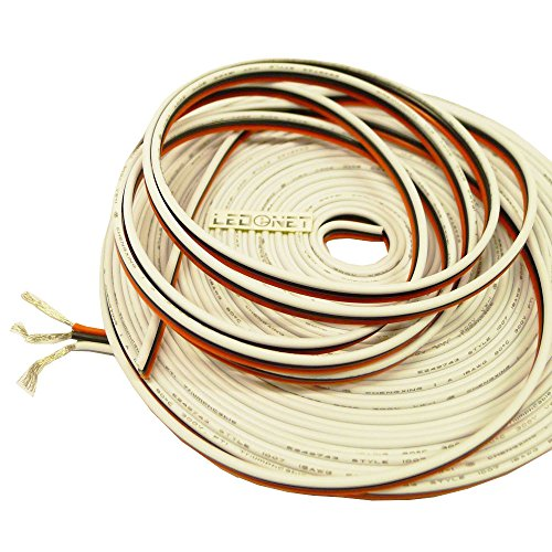 LEDENET 18 AWG 3pin Extension Cable Line 3 Color for CW/WW Dual White LED Strip Lights Warm Cold Cool Natual White Ribbon Lamp Cord Wire 33ft 10 Meter (18AWG 3pin Cable)
