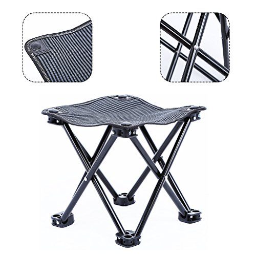 Outdoor Camping Stool for Fishing Travel Hiking Lightweight Sturdy Portable Stools with Carry Bag Bearing 220 lbs by Aiung