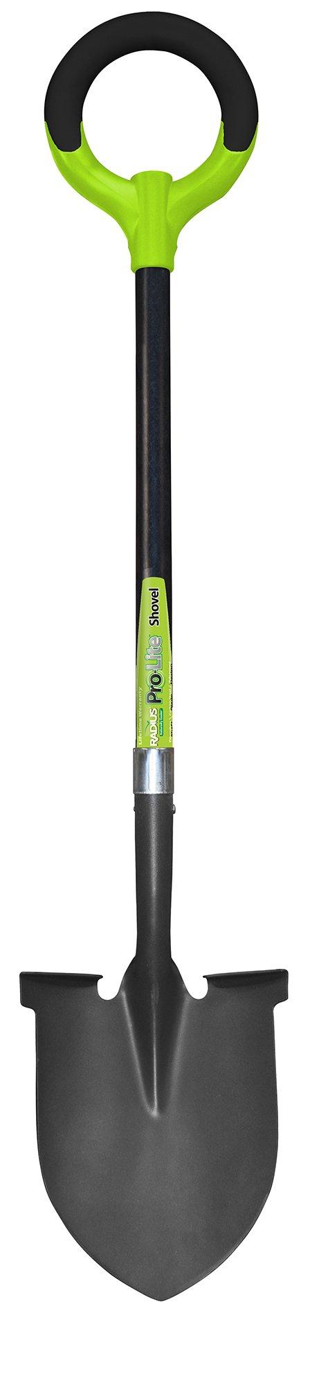 Radius Garden 25202 Pro-Lite Ergonomic Carbon Steel Shovel, Green by Radius Garden