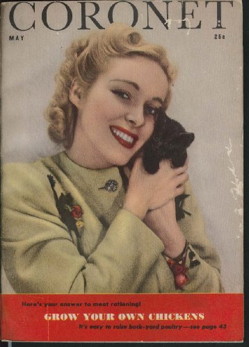 CORONET Wartime meat-rationing back-yard poultry Vera Gilmer cover girl 5 1943 -  The Jumping Frog