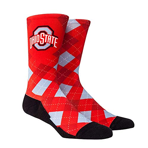 - NCAA Super Premium College Fan Socks (L/XL, Ohio State Buckeyes - Argyle)