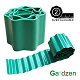 Gardzen 5.9in x 39ft Gardening Green Flexible PVC Garden Lawn Edging, Border Edging for Lawns, Flower Beds. Protect Your Lawn from Erosion with This Strong and Durable Plastic Lawn Edging