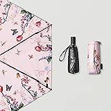 JSSFQK Household Umbrellas Sun Protection UV Umbrellas Rain and Rain Folding Umbrellas Black, Pink Optional Umbrella (Color : Pink)