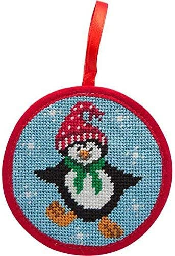 Alice Peterson Stitch-Ups Fair Isle Red Needlepoint Ornament Kit