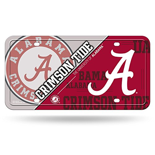 Rico NCAA Alabama Crimson Tide Metal License Plate Tag (Alabama Metal)