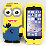 AE Cute Cartoon Despicable Me Minion Back Case cover For Apple iPhone 6 / 6S by AE MOBILE ACCESSORIES