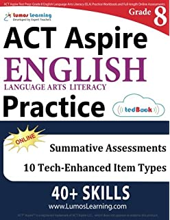 Act aspire test prep 7th grade math practice workbook and full act aspire test prep grade 8 english language arts literacy ela practice workbook fandeluxe Choice Image