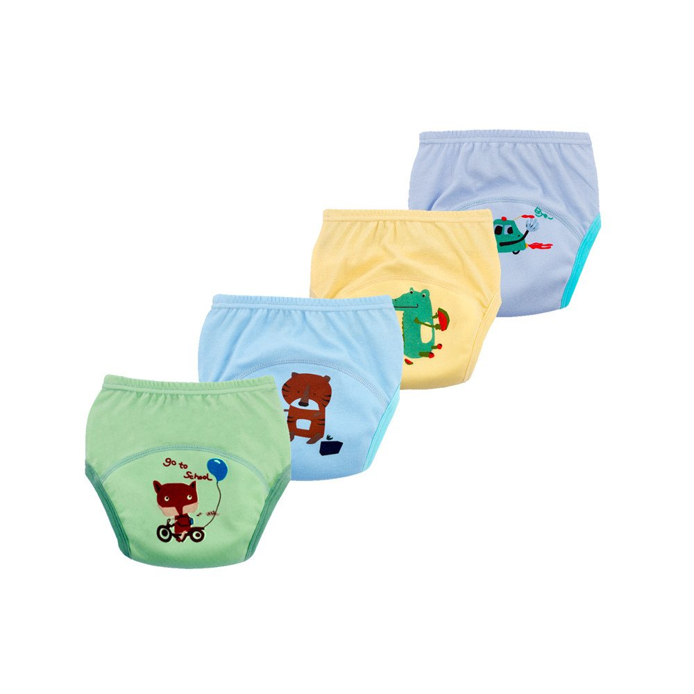emlstyle Toddler 6 Layers Anti Leakage Toilet Potty Training Pants Baby Potty Training Underwear Reusable Set of 4 Pieces