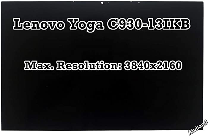 """Replacement 13.9"""" 4K LCD Panel 3840x2160 IPS Display Touch Screen Digitizer with Touch Control Board Assembly for Lenovo Yoga C930-13IKB 81C4006XUS"""