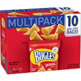 Bugles Original Flavor Crispy Corn Snacks Bags, 10 Count (Pack of 4)