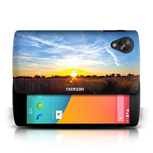 Etui pour LG Google Nexus 5/D821 / Bleu ciel conception / Collection de Coucher du Soleil