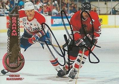 (Dirk Graham 1993 Pinnacle Autograph #317 Blackhawks)