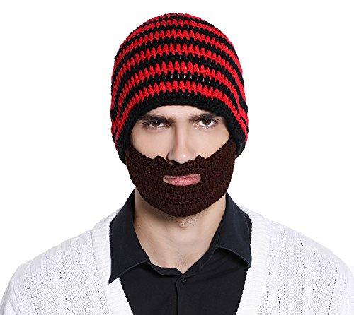 7a334d6df56 Unisex Wacky Beard Winter Beanie
