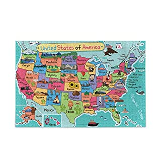 USA Map Puzzle 500 Piece Jigsaw Puzzle Kids Adult – Jigsaw Puzzle(f)