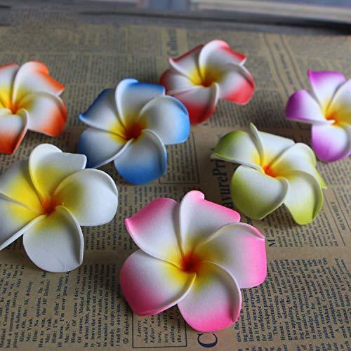 10Pcslot-Frangipani-Artificial-Flower-Headdress-Flowers-Egg-Flowers-Wedding-Decoration-Party-SuppliesBlue5cm
