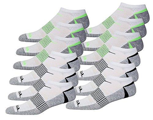 Concurso de defensa para hombres y calcetines sin costura de costura suave, gris, 10-13 calcetines / 6-12, 12 pares