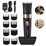 BESTBOMG Cordless Hair Clipper Kit for Men,Speed Adjustable Hair Trimmer with Ceramic Blade,Rechargeable Hair Cutting Machine with 8 Guide Combs Used for Family Hairdressing