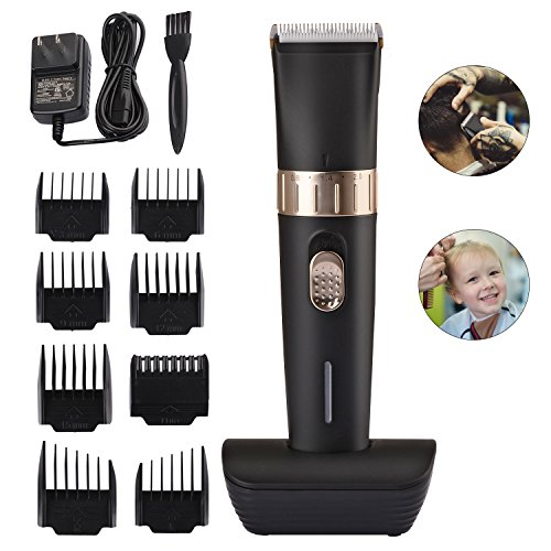 BESTBOMG Cordless Hair Clipper Kit for Men,Speed Adjustable Hair Trimmer with Ceramic Blade,Rechargeable Hair Cutting Machine with 8 Guide Combs Used for Family Hairdressing by BESTBOMG (Image #8)