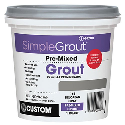 Custom PMG381QT 1-Quart Simple Premium Grout, Bright White ()