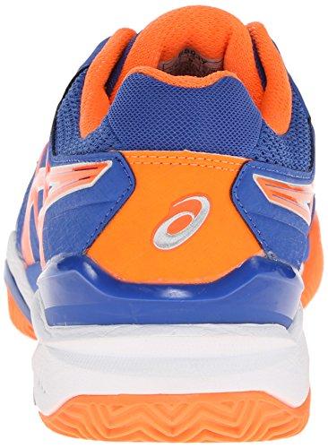 Asics Mens Gel-resolution 6 Scarpa Da Tennis In Terra Battuta Blu / Arancione Flash / Argento