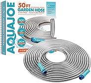 Aqua Joe Mangueira de jardim de aço inoxidável resistente AJSGH50 de 1,27 cm, 15,24 m