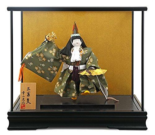 五月人形 ケース 飾り 武者人形 幸一光 松崎人形 三番叟 桂 6号 koi-19051 B01HZ5LYL6