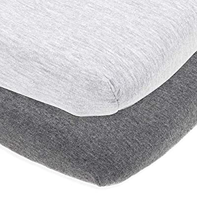 Cuddly Cubs Mini Crib Sheets   Fitted Playard Sheets for Graco Pack n Play Mattress, Joovy, 4Moms, Chicco Lullaby and Other Playpen Portable Travel Cribs and Play Yards