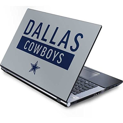 Skinit NFL Dallas Cowboys Generic 17in Laptop (15.2in X 9.9in) Skin - Dallas Cowboys Silver Performance Series Design - Ultra Thin, Lightweight Vinyl Decal Protection