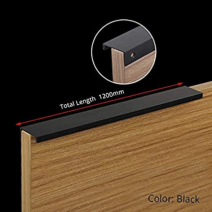 Happ Trix Kitchen Handle Black Hidden Cabinet Handles Zinc Alloy
