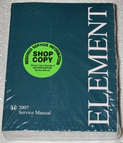 2007 honda element owners manual - 3