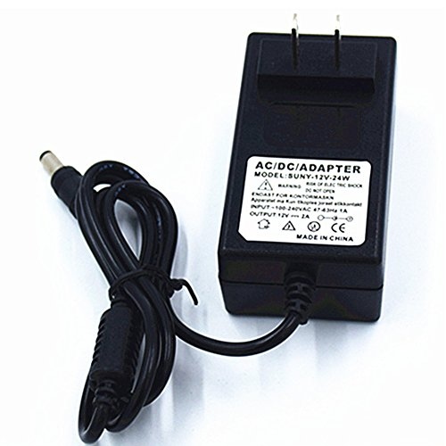 DC 12V 2A 50/60Hz Power Supply Adapter Transformers Interfaz 5,5x 2.5mm adecuado para productos equipo de seguridad...
