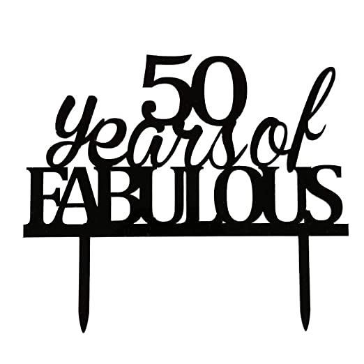 Decoración para tarta de 50 años de fabulosa decoración ...