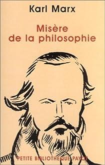 Misère de la philosophie par Marx