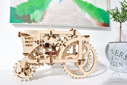 Ugears Tractor, 3D Wooden Puzzles, Adult Craft, DIY Brain Teaser Games, Engineering Toys, board Games, Self-Assembly Mechanical Model