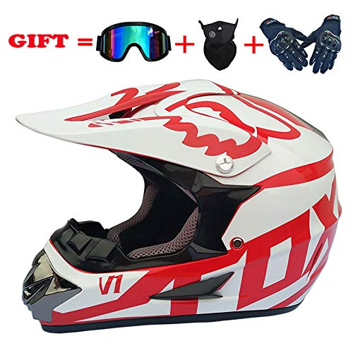 Gold Cross Cycles - Motocross Helmet 30Colors Adult Full Face ATV/MX/Off-road Motorcycle 4pc set DOT
