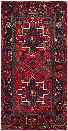 Safavieh Vintage Hamadan Collection VTH211A Antiqued Oriental Red and Multi Area Rug (2'7