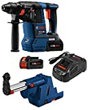 bosch 1 2 hammer drill - Bosch GBH18V-26K24GDE 18V EC Brushless 1 In. SDS-plus Bulldog Rotary Hammer Kit with (2) CORE18V 6.3 Ah Batteries and Dust-Collection Attachment