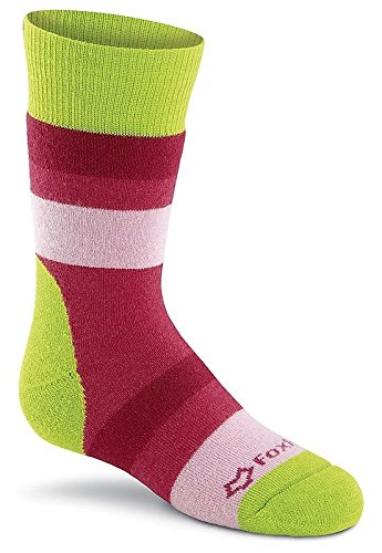Fox River Kids Arctic Stripe Mid-Calf Socks, Small, Green Stripe Mid Calf Socks