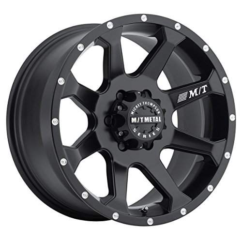 Mickey Thompson M/T Metal Series MM-366 Flat Black Wheel with Milled Lip (20x9
