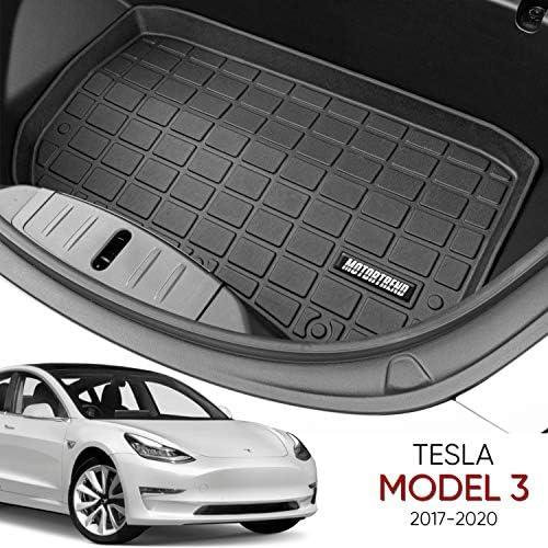 Motor Trend Frunk Mat (Front Trunk Mat/Liner) for 2017 2018 2019 2020 Tesla Model 3, Black (MTMT-3301)