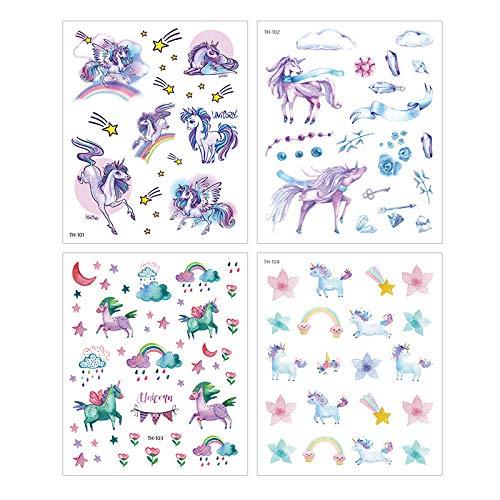 Album e Scrapbooking 4 schede autoadesive per Decorazione di Calendario Motivo Unicorno di Sogno Hosaire
