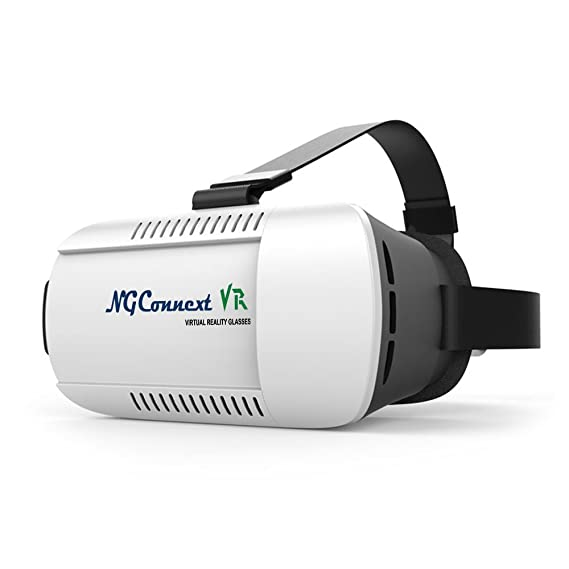 NGConnext VR-45 3D Virtual Reality Glasses/Headset VR BOX MODIFIED RESIN  LENSES for FOV of 105° for Samsung, Apple iPhone, Lenovo, Xiaomi, Sony,  HTC,