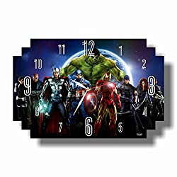 Art time production The Avengers 17 x 11 Handmade Wall Clock - Get Unique décor for Home or Office - Best Gift Ideas for Kids, Friends, Parents and Your Soul Mates
