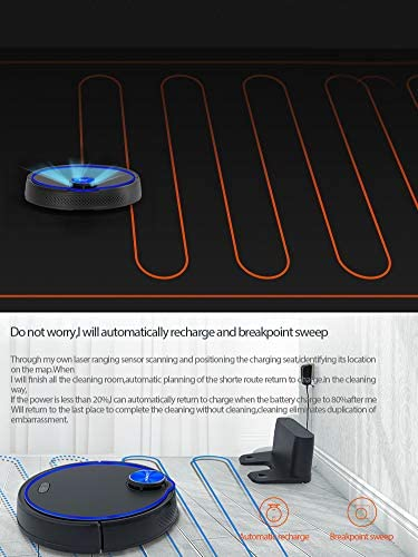 BOBOT NAVI1030 Robotic Vacuum Cleaner with Wi-Fi Connectivity Laser Navigation Home Automatic Intelligent Sweeping Robot