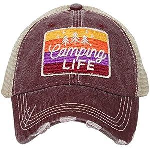 KATYDID Camping Life Baseball Hat – Trucker Hat for Women – Stylish Cute Ball Cap