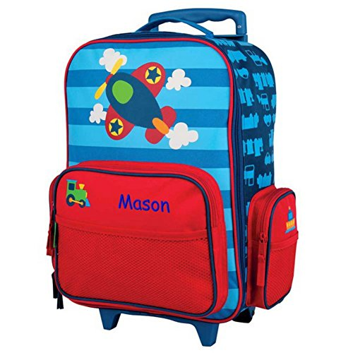 Kids Personalized Luggage - Personalized Kids Rolling Luggage (Airplane)