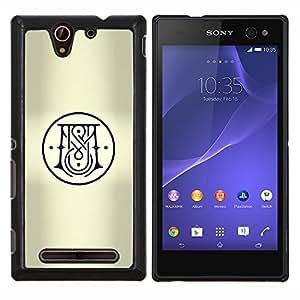 Stuss Case / Funda Carcasa protectora - Logo Christian Croix Noire - Sony Xperia C3