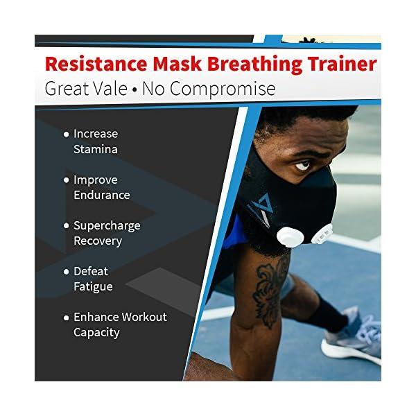 Training Mask Elevation Basic per allenamenti, running, sport, HIIT training [1anno di garanzia] 4 spesavip