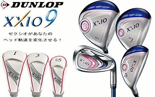 DUNLOP(ダンロップ)XXIO9 レディス ゴルフクラブ フルセット MP900カーボンLシャフト ウッド3本+アイアン5本セット フレックス A ゼクシオ ナイン レディス ゴルフクラブセット (13.5度)